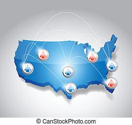 usa network communication illustration