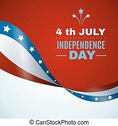 usa, niezależność, tło, dzień