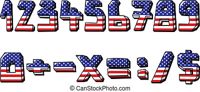 usa numbers - American flag numbers