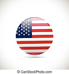 USA Orb - Illustration of an orb with the flag of the USA...