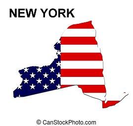 usa, pasy, stan, projektować, york, gwiazdy, nowy