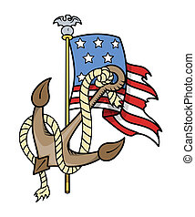 USA Patriotic Tattoo - Vector