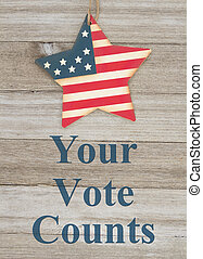 USA patriotic voting message