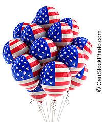 usa, patriotyczny, balony