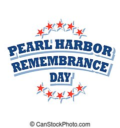 USA Pearl Harbor Remembrance Day logo, vector