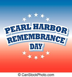 USA Pearl Harbor Remembrance Day, vector
