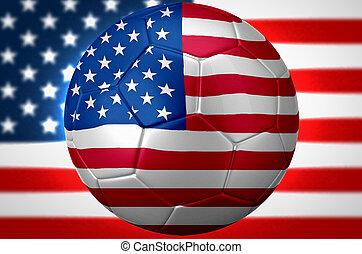 usa, piłka nożna, światowa filiżanka