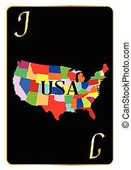 USA Playing Card Joker