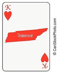 USA Playing Card King Hearts