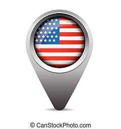 USA pointer vector flag