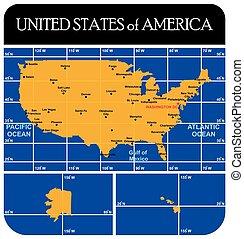 USA Political Map