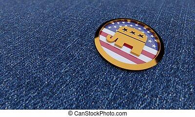 USA political parties symbols: democrats and republicans
