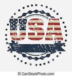 USA poster - Illustration patriot united states of america, ...