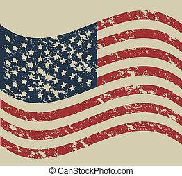 USA poster - Illustration patriot united states of america,...