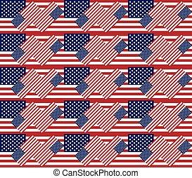 usa, próbka, seamless, struktura, tło, patriotyczny