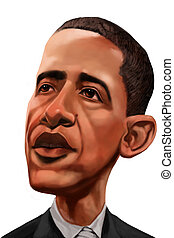 barack obama - USA president barack obama caricature made in...