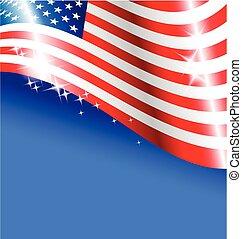 usa, résumé, drapeau américain, jour, indépendance