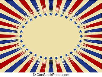USA radial background - USA radial background and texture
