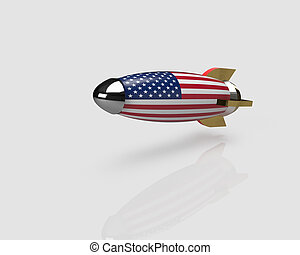 usa, raketten, vlag