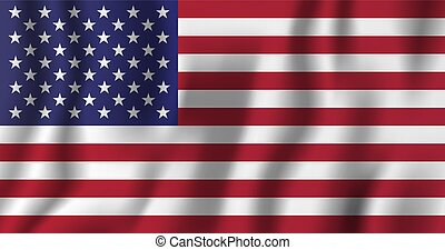 USA realistic waving flag vector illustration. National country background symbol. Independence day