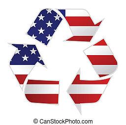 USA recycle illustration