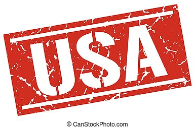 usa red square stamp