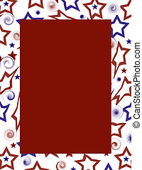 USA Red White & Blue Fram - A background design with the...