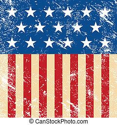 USA retro flag - American flag grunge, vintage style