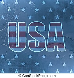 USA retro vector background