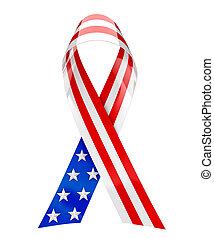 USA ribbon - 3d rendering