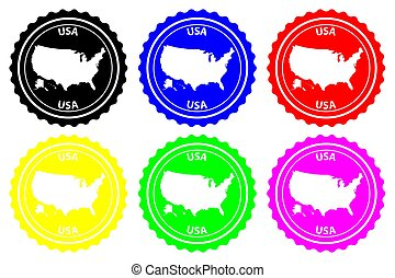USA - rubber stamp