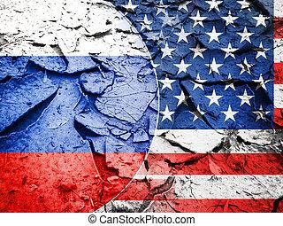 Usa sanction vs Russia concept