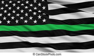 usa, seamless, drapeau, vert, mince, closeup, ligne, boucle,...