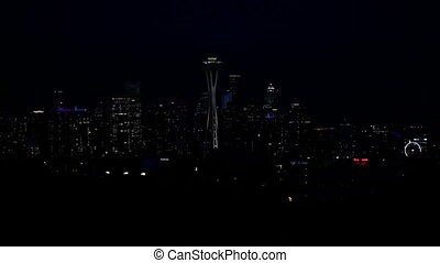 Seattle Just lights of the city at night