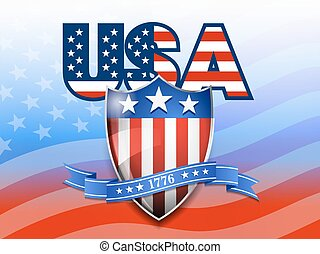 USA Sheild Flag Background