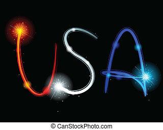 USA sparkler streaks