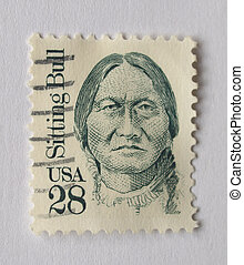 USA circa 1996 - United States of America (USA) postage stamp depicting Sitting Bull (1831-1890), Usa, circa 1996