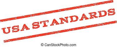 USA Standards Watermark Stamp