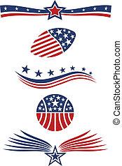 USA star flag icon design