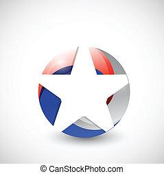 usa star illustration design