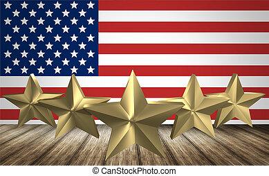 USA stars flag 3d render