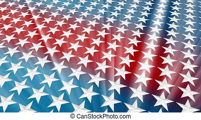 USA Stars Light Rays Loop