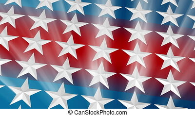 USA Stars Light Rays Loop Two