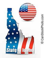 USA State Map Idaho