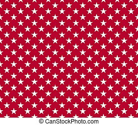 USA style seamless pattern white stars on red background