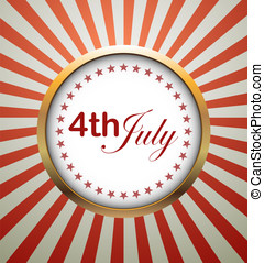 USA symbolic - Independence Day, vector background