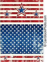 USA textured frame