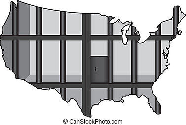 USA - The Prison Capital of the World - An Illustration...