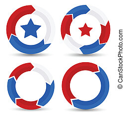 USA Theme - Festival Frames Vector