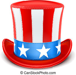 usa top hat for independence day vector illustration...